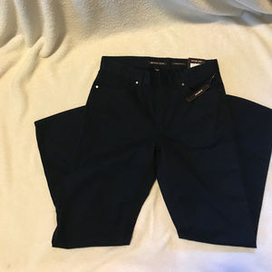 Men's navy blue casual pants, size